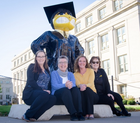 University College, Educational Advisors with Herky the Grad